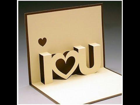 DIY Valentine's Day POP-UP Card, DIY Anniversary Cards gift idea, Handmade Greeting Card Ideas