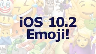 New emoji in iOS 10.2!