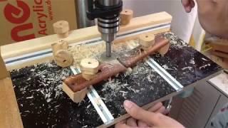 DIY Drill Press & Router Table (ท็อปสว่านแท่น,โต็ะเราเตอร์)