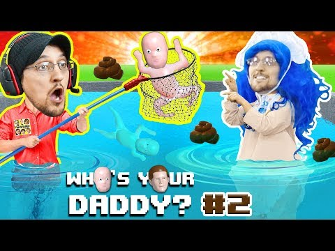 BAD BABY POOPS EVERYWHERE! WHO'S YOUR DADDY 2! Super Dad saves Drowning kids in Pool! (FGTEEV UGLY)