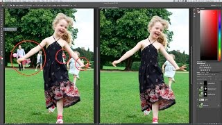 How to remove unwanted people in Photoshop CC