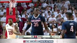 MBB Highlights - Temple 63, UConn 58