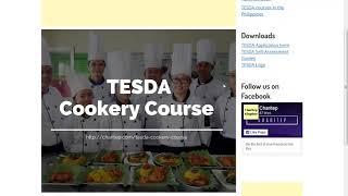 TESDA Cookery Course