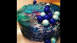 আয়না কেক | মিরর গ্লেইজ কেক | Galaxy Mirror Glaze Cake | Mousse Cake With Mirror Glaze