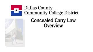 Concealed Carry law