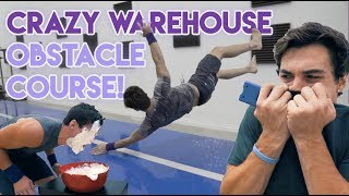 Crazy Warehouse Obstacle Course!!