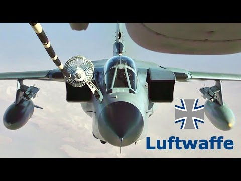 German Air Force Tornado IDS & USAF F-15E Air Refueling Ops