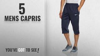 Top 10 Mens Capris [2018]: Nike Men's Libero 3/4 Knit Pants - Obsidian/White, Medium