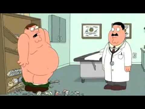 Padre de familia Peter examen de próstata
