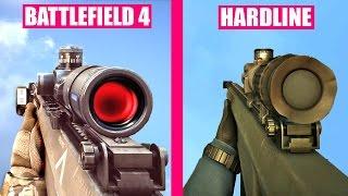 Battlefield Hardline Gun Sounds vs Battlefield 4