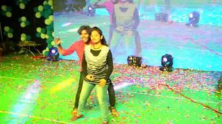 Meghalu Lekunna Dance Performance By Vihari Harry , Preethi at Cygnus IIIT Nuzvid | BHaskar VJ |