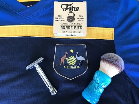 Australia Day Cold Water SOTD with Fine Snakebite, TF Aussie Brush and Mergress!!!!