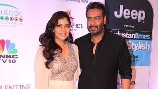 CUTE Kajol With Husband Ajay Devgan At HT Style Awards 2017 Red Carpet