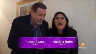 Victoria Ruffo y Cesar Evora un pecado no estar juntos y nos invitan a ver su nueva telenovela