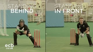 Run out study - standing in front or behind the stumps?