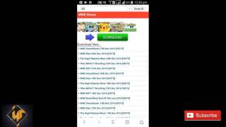 How to download wwe letest video in HD