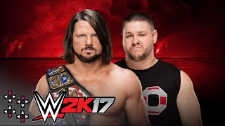 WWE Battleground: AJ Styles vs. Kevin Owens - WWE United States Title Match - WWE 2K17 Match Sims