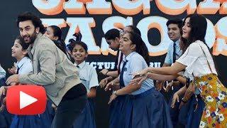 Katrina Kaif And Ranbir Kapoor Dance With School Kids On Jagga Jasoos Songs In Delhi