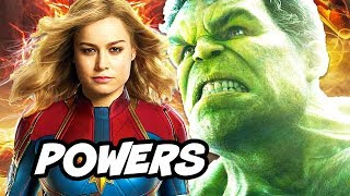 Captain Marvel is Most Powerful Avenger in Infinity War Explained