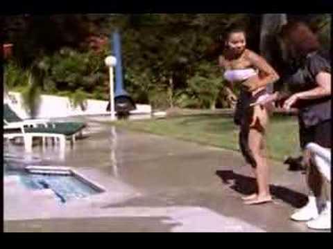 Lisa raye at the pool Rhapsody