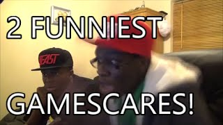 2 Funniest Scary Game Scares Black Guys KSI & CSG Screaming!