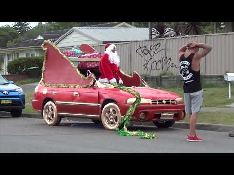 When you turn your BEST MATES car into a CHRISTMAS SLEIGH!
