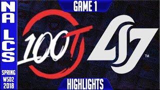 100 vs CLG Highlights   NA LCS Week 5 Spring 2018 W5D2   100 Thieves vs CLG highlights