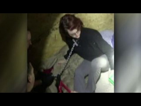 Xxx Mp4 Cops Save Woman Chained In Metal Container By Serial Killer 3gp Sex