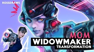 Transforming my MOM into WIDOWMAKER | RossDraws