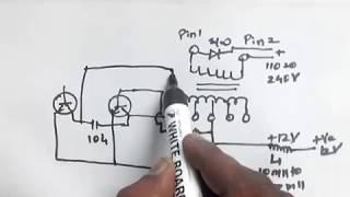 How to convert 12 volt dc to 110v / 120v / 220v / 230 volts AC | Make easy DC to AC inverter