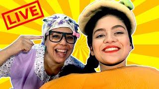 فوزي موزي وتوتي - التيتا فوزية مع المندلينا في بث حي ومباشر