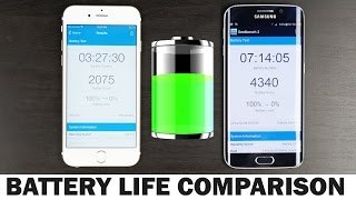 Apple iPhone 6s vs Samsung Galaxy S6 Edge - Battery Life Comparison