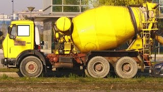 Cement Mixer Truck for Children | Construction Vehicles | Heavy Equipments | Educational