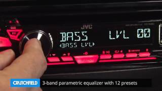 JVC KD-R480 Display and Controls Demo | Crutchfield Video