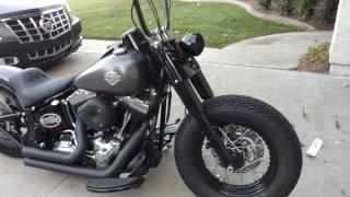 Custom Harley Softail Slim with Exile exhaust and Shotgun Shock