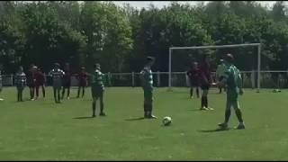 Cheeky rabona free kick goal