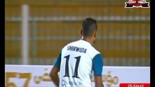 تصدي غريب من محمود أبو السعود فى مباراة المقاولون العرب وانبي