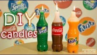 How To Make Coca Cola, Fanta and Sprite Candles DIY - top km