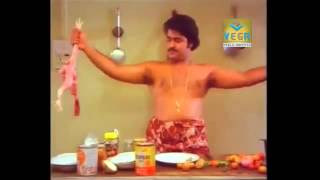 Mohanlal Making Fun With Chicken || Boeing Boeing Malayalam Movie