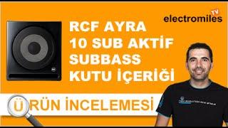 Rcf - AYRA 10 SUB Aktif Sub Bass Referans Monitörü Kutu İçeriği