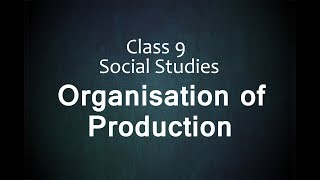 Class 9 Economics The Story of Village Palampur - Organisation of Production