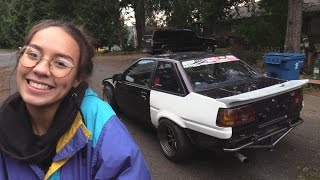 Girlfriend Learns To Drive Stick In My AE86