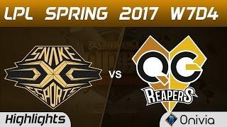 SS vs QG Highlights Game 1 LPL Spring 2017 W7D4 Snake vs QG Reapers