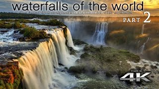 WORLD'S WATERFALLS in 4K [w music] Nature Relaxation™ 1 Hour Ambient Film for Healing & Meditation