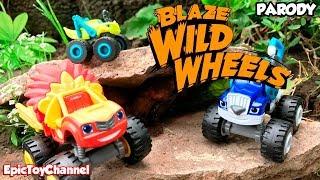 Blaze Wild Wheels with Falcon Blaze & Cheetah Crusher with Blaze Wild Wheels hide and Seek Surprise
