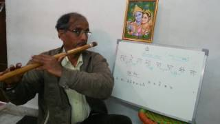 Flute Lesson Part 4 (a) - Introduction to Komal swars (Half notes) on Bansuri