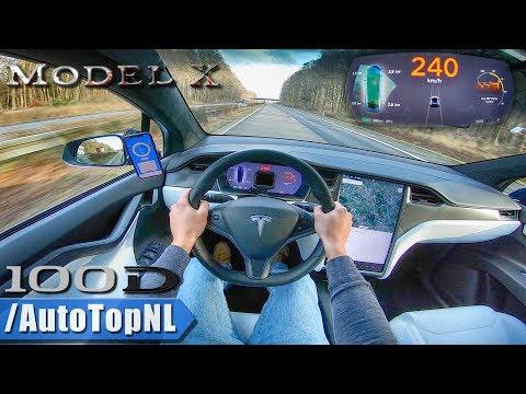 Xxx Mp4 TESLA MODEL X 100D 240km H AUTOBAHN POV By AutoTopNL 3gp Sex