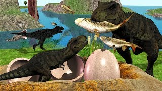 Mother Dinosaur Save From Crocodile Of Baby Dinosaurs Fun Cartoon 3D Animation Short Movie For Kids