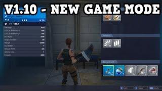 Fortnite V1.10 UPDATE - NEW GAME MODE & INVENTORY