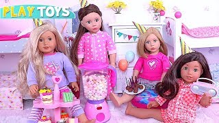 AG Baby Doll Setting up Dollhouse for Slumber Party with Best Friends! 🎀